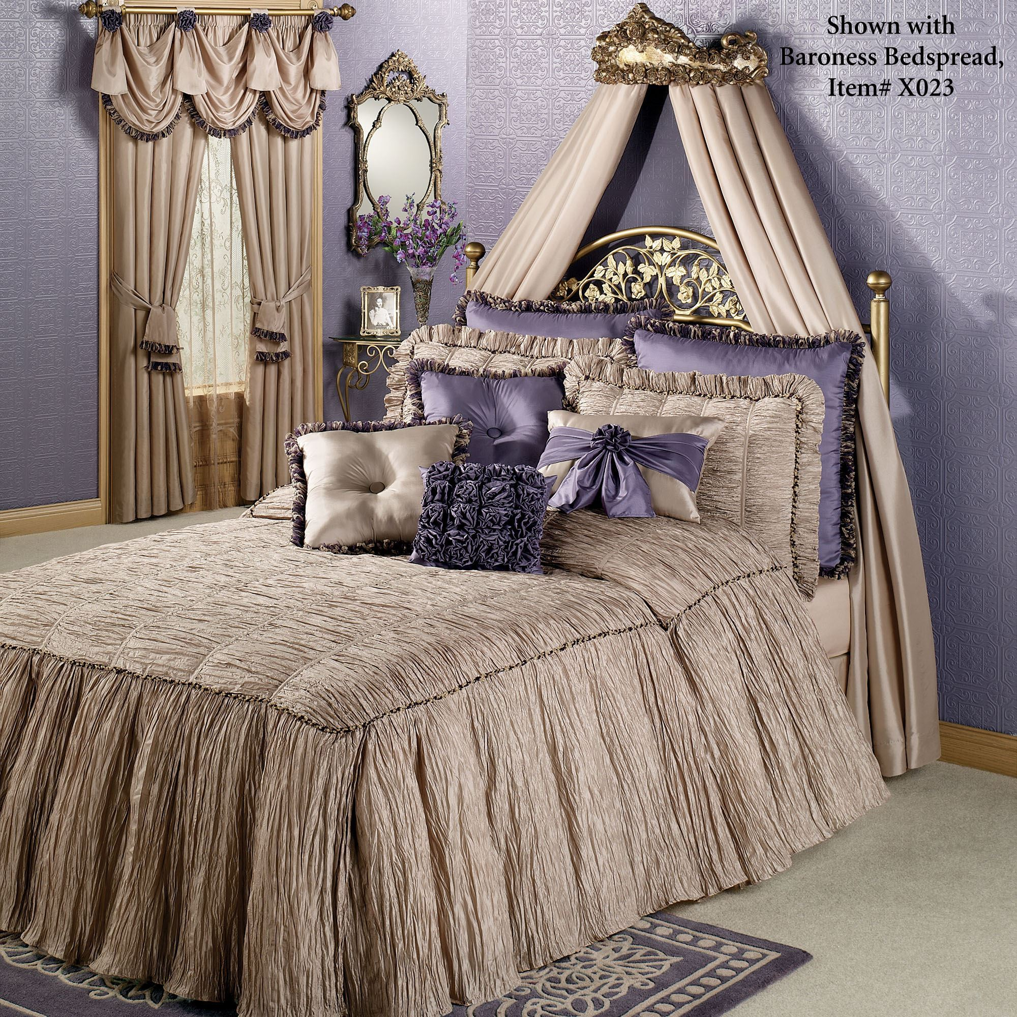 Victoria Rose Antique Gold Wall Teester Bed Crown on Wall Teester Bed Crown  id=87860