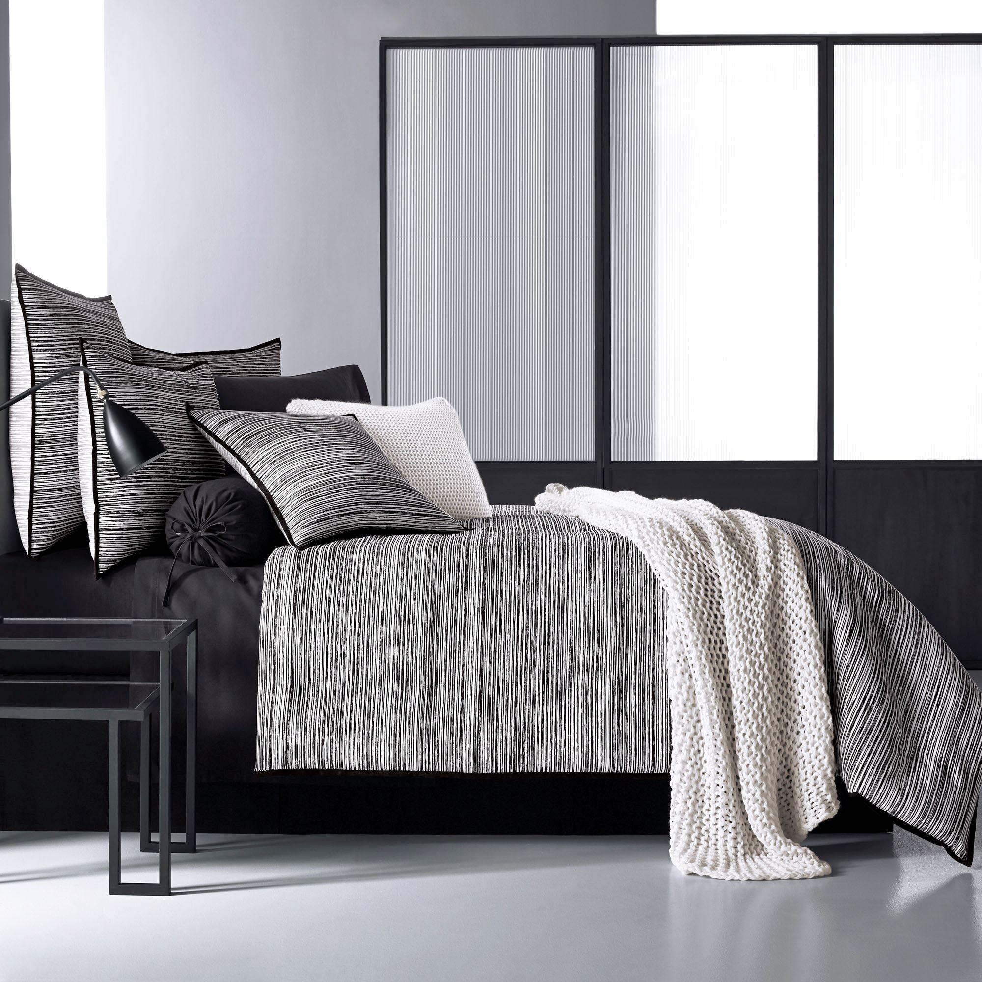 flen black and white striped comforter bedding by oscar oliver new york city