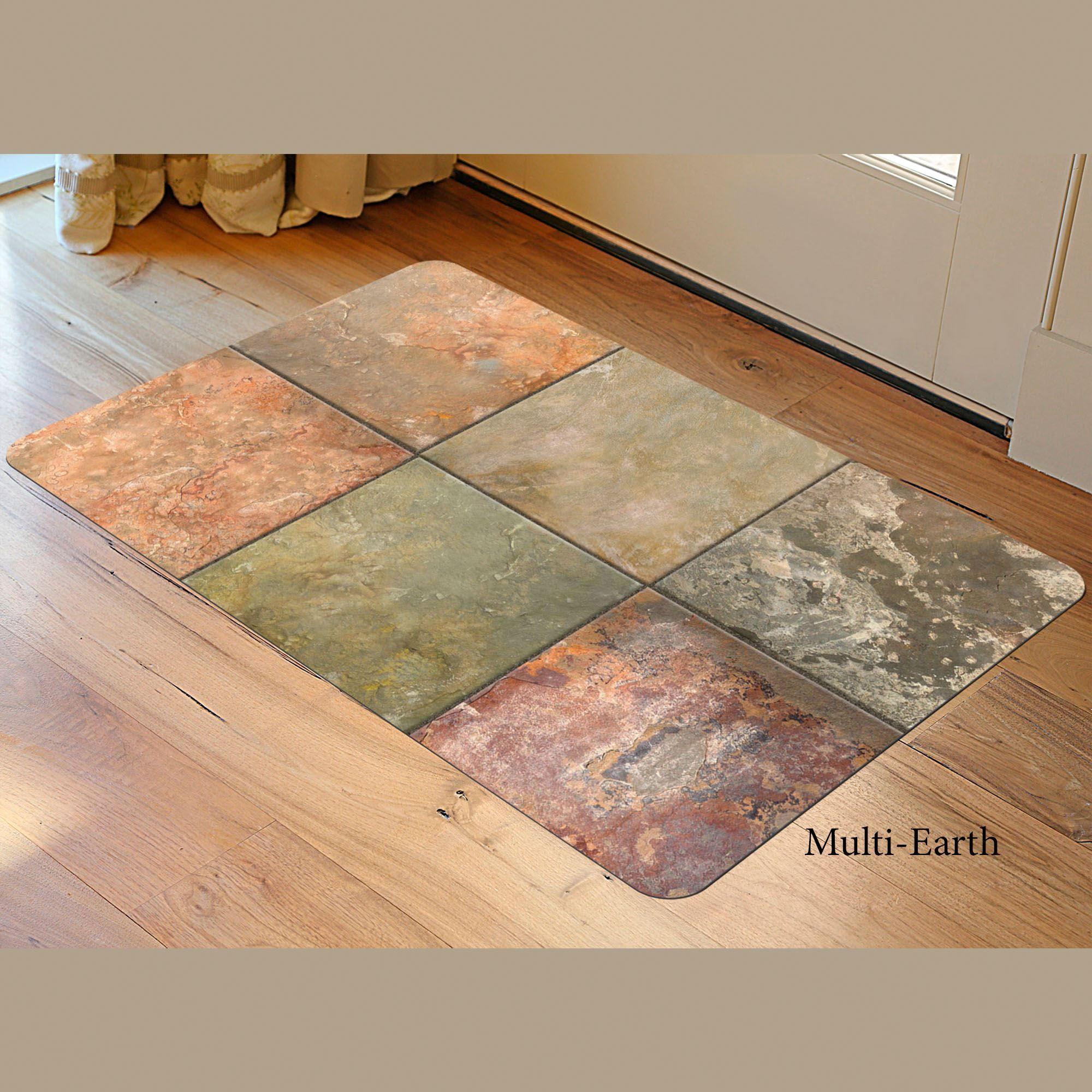 faux tile skid resistant low profile mat