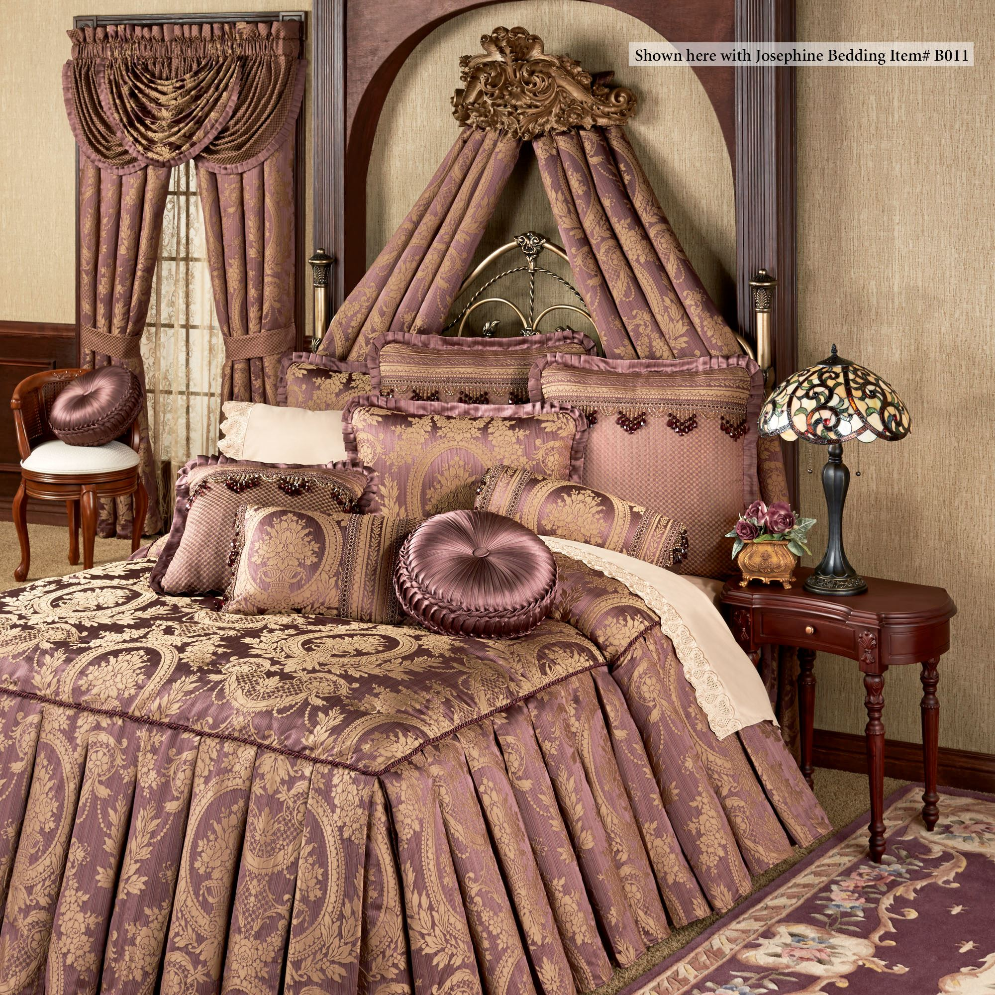 Alexandrine Aged Gold Wall Teester Bed Crown on Wall Teester Bed Crown  id=84492