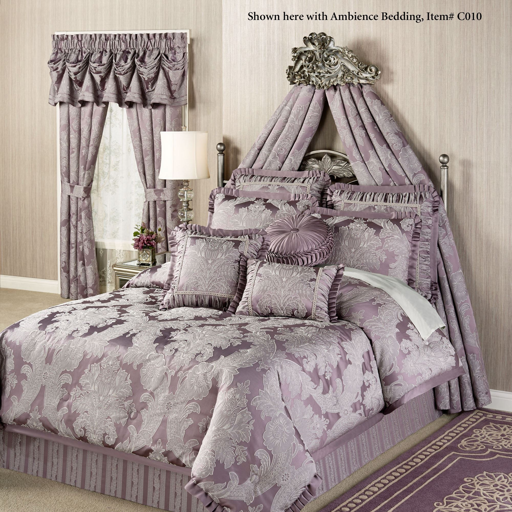 Alexandrine Aged Silver Wall Teester Bed Crown on Wall Teester Bed Crown  id=58896