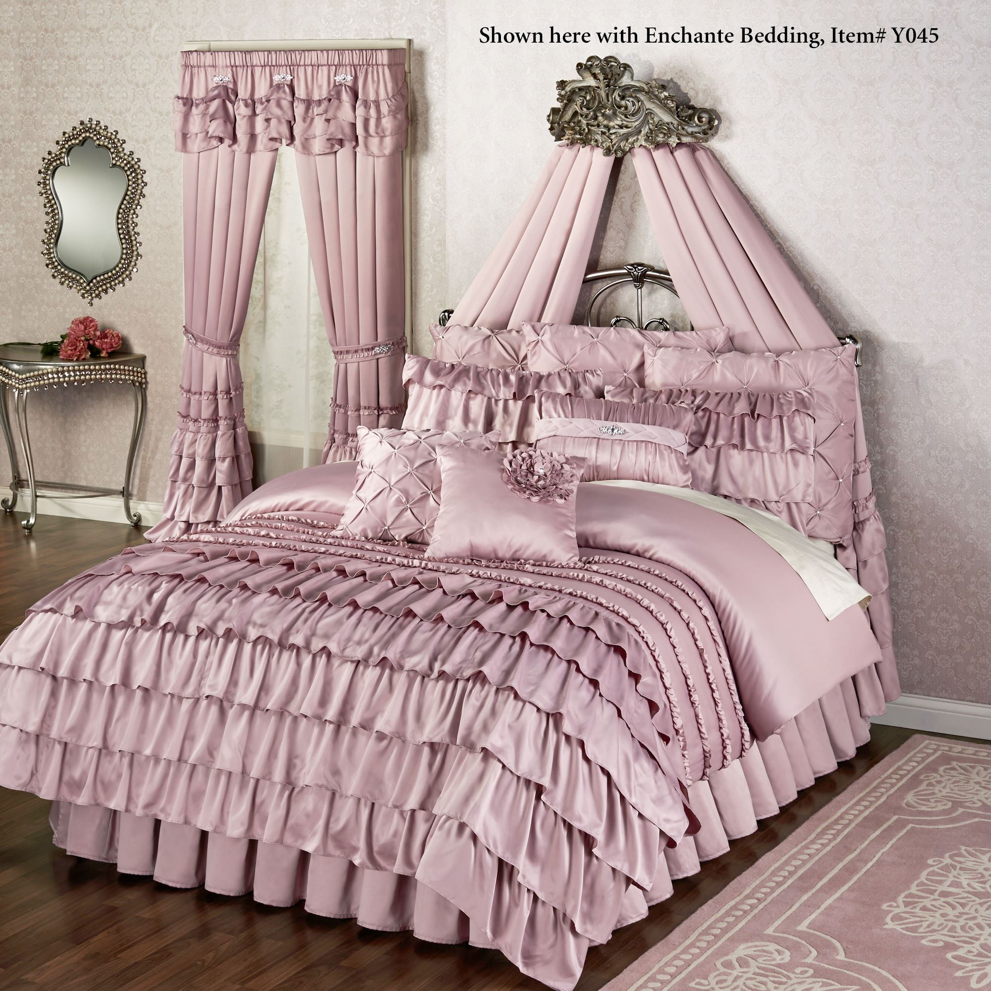 Alexandrine Aged Silver Wall Teester Bed Crown on Wall Teester Bed Crown  id=16193