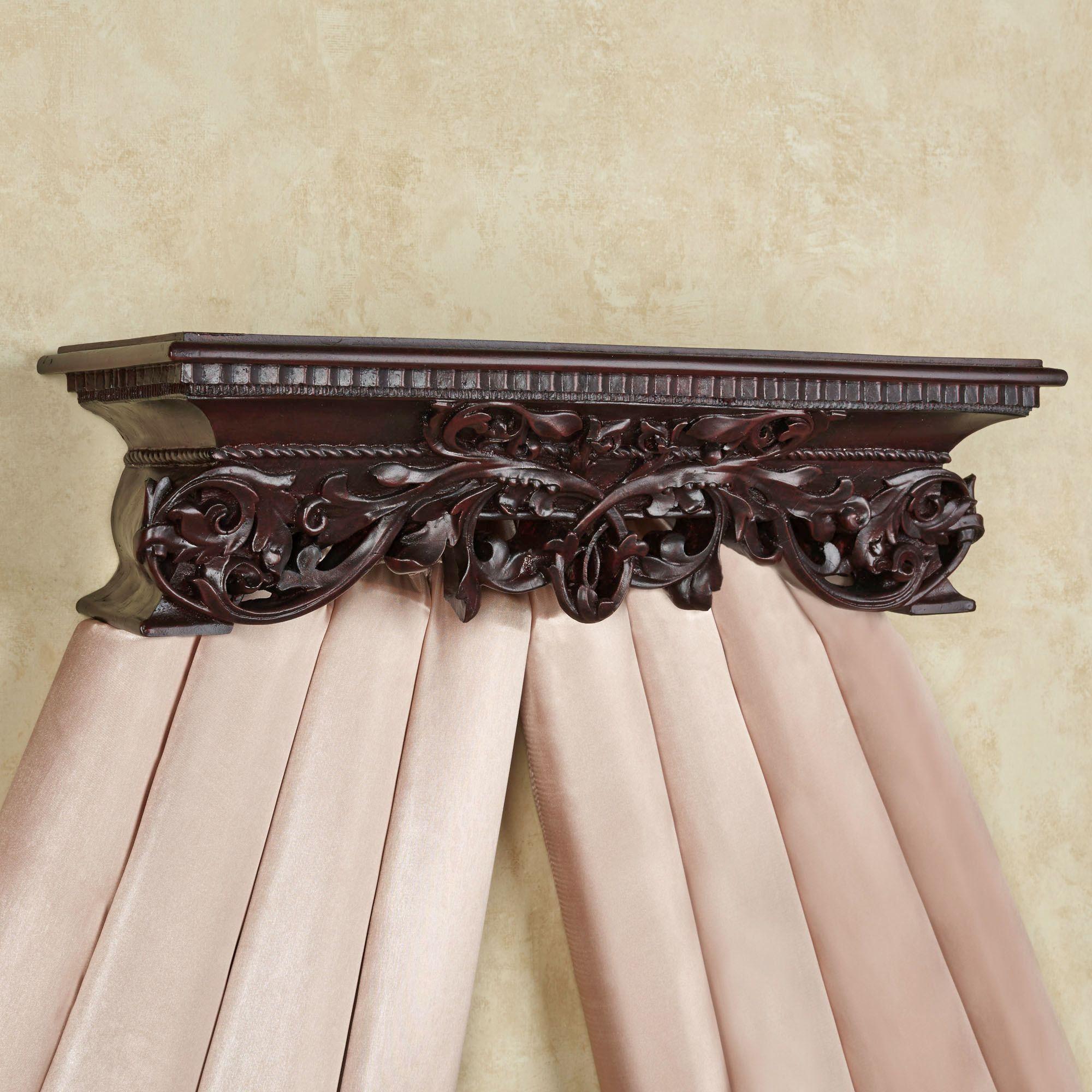 Adela Rich Mahogany Wall Teester Bed Crown on Wall Teester Bed Crown  id=99293