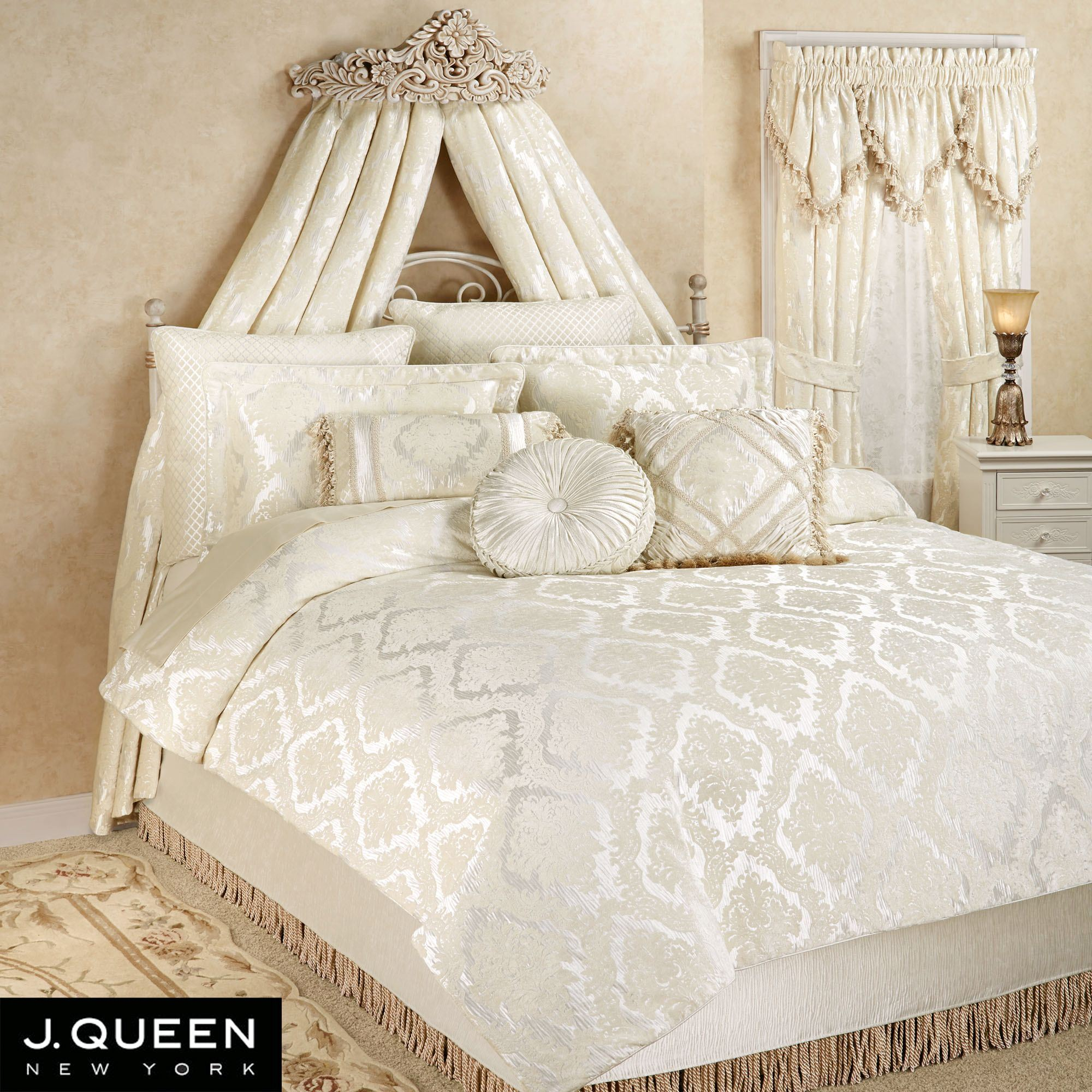 estate chenille medallion comforter bedding by j queen new york