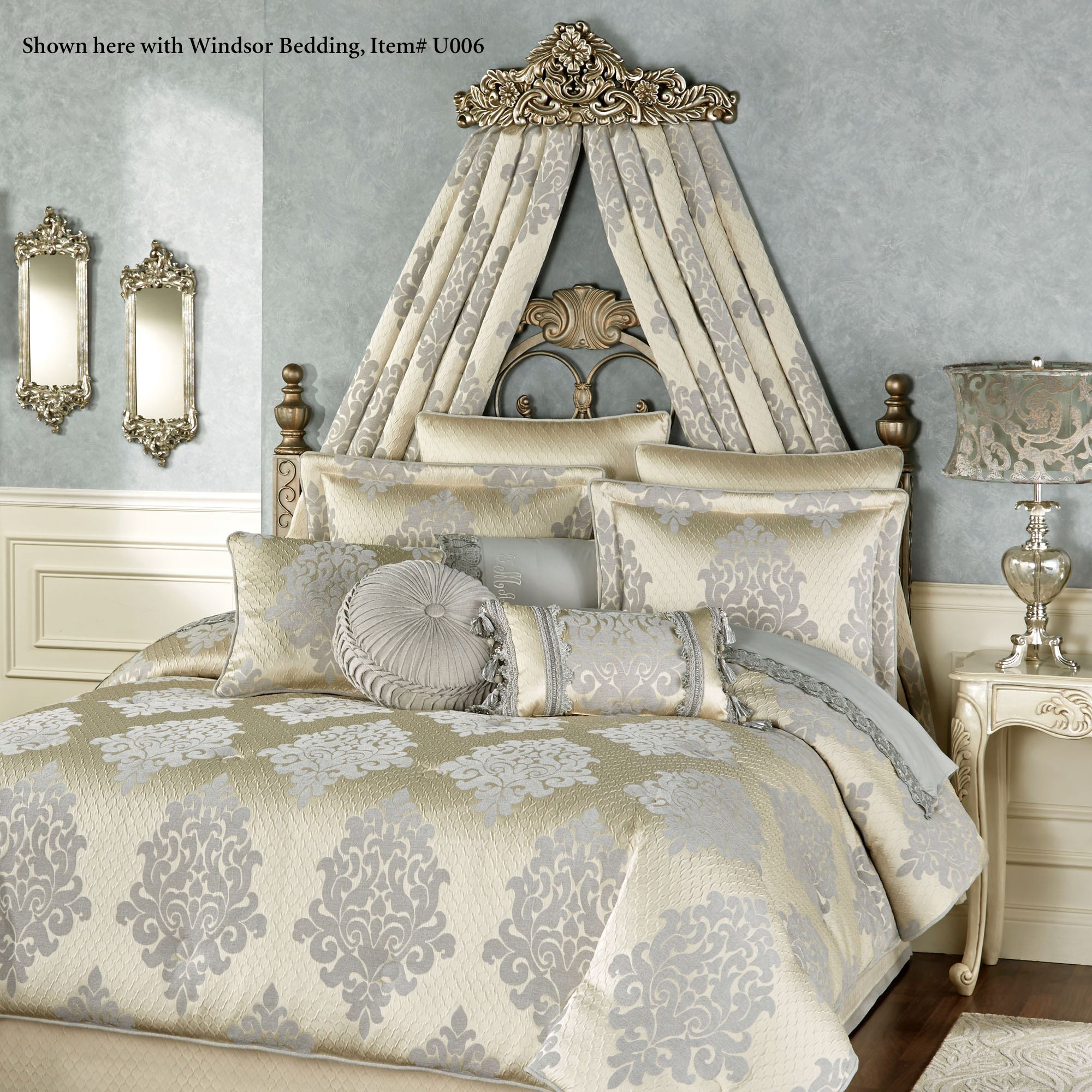 Vania Decorative Wall Teester Bed Crown on Wall Teester Bed Crown  id=72463