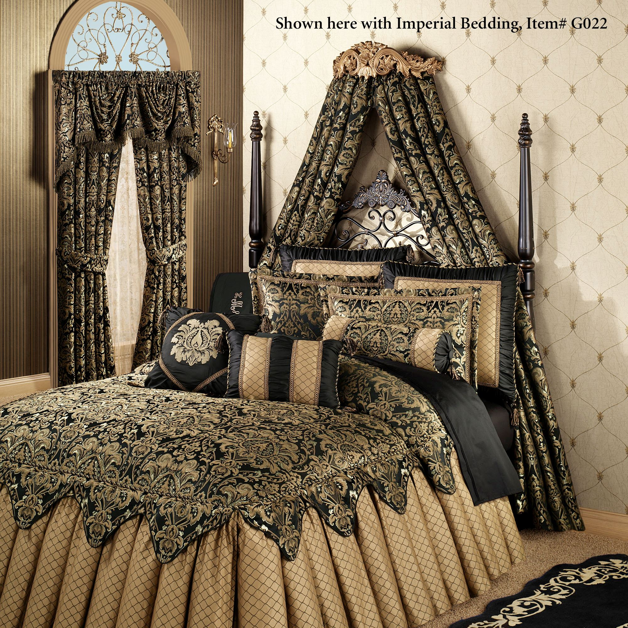 Flowering Medallion Aged Gold Wall Teester Bed Crown on Wall Teester Bed Crown  id=36589