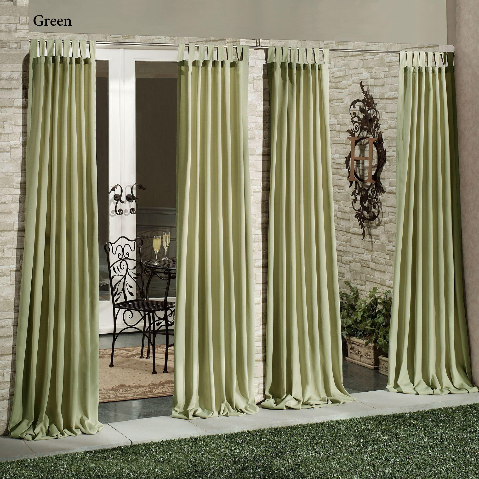 matine indoor outdoor tab top curtain panel