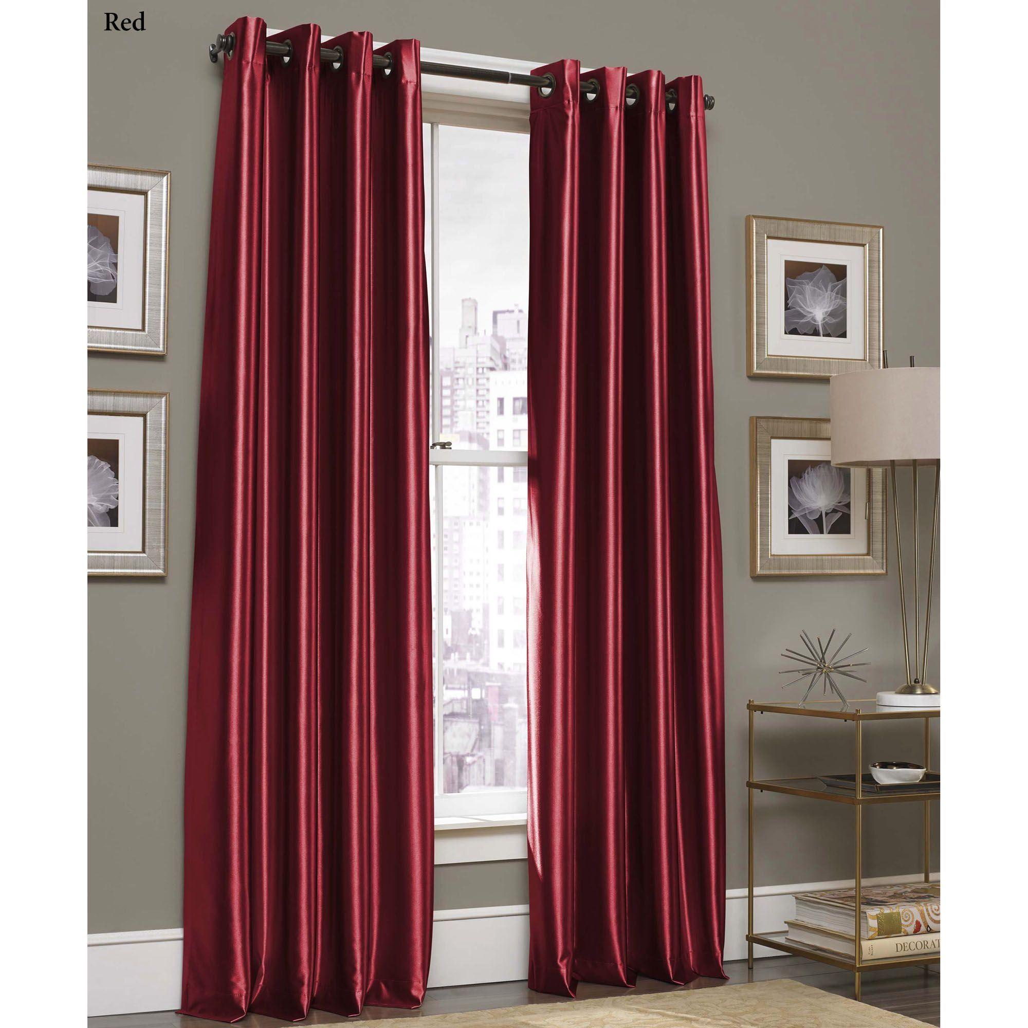 glisten satin grommet curtain panel by j queen new york