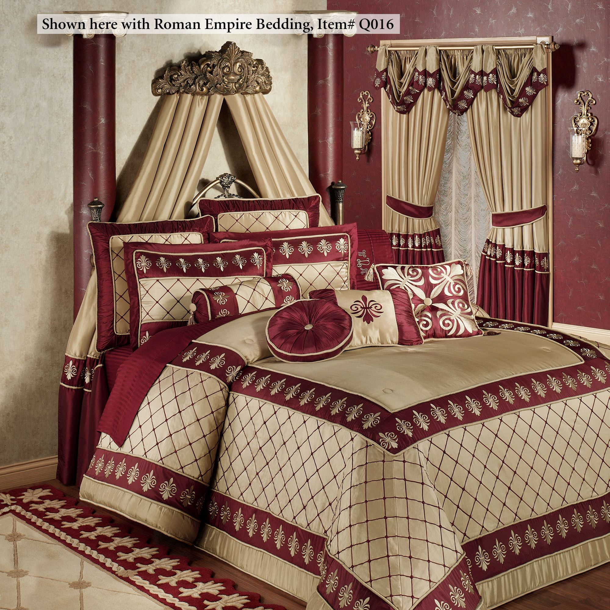 Natasha Antique Gold Wall Teester Bed Crown on Wall Teester Bed Crown  id=64433