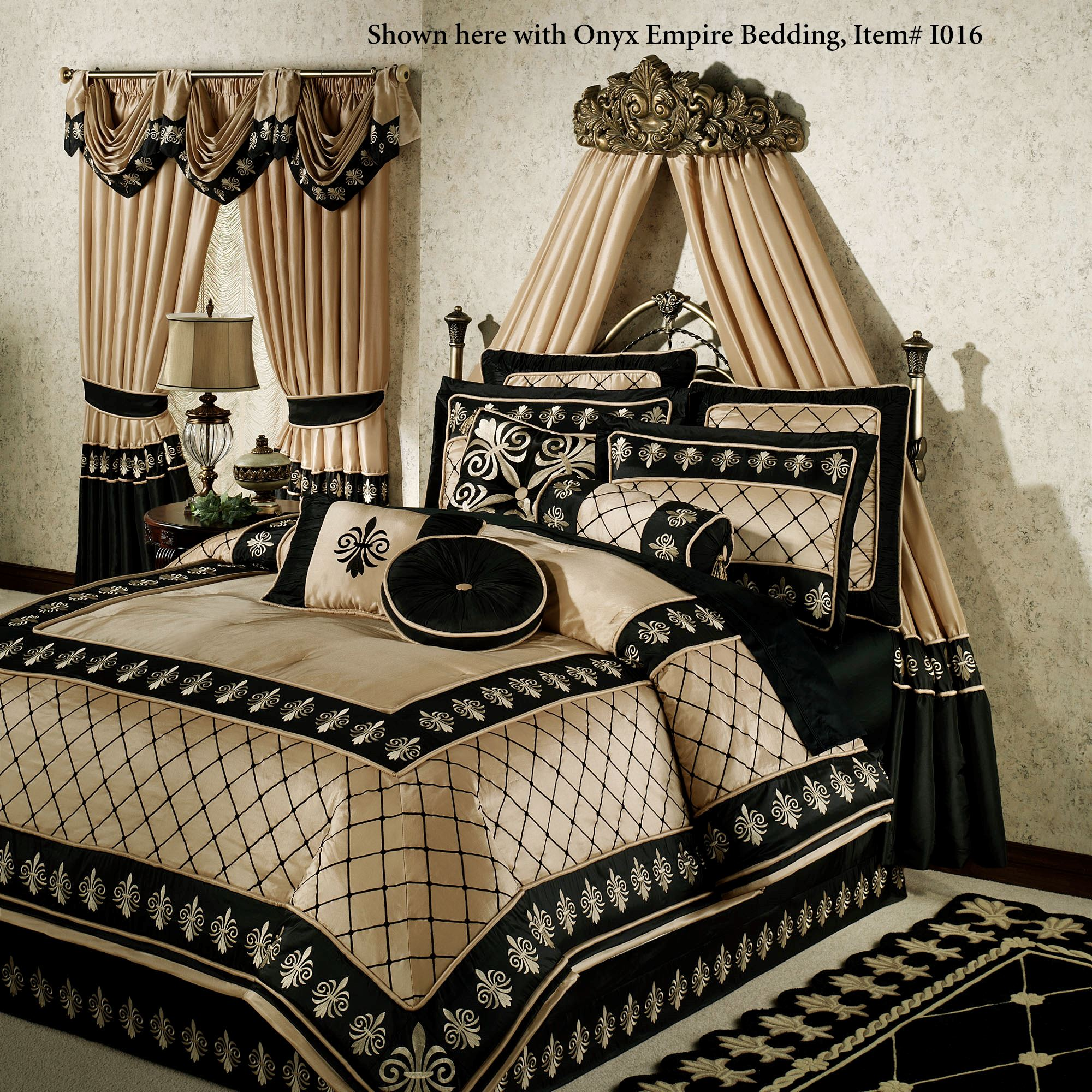 Natasha Antique Gold Wall Teester Bed Crown on Wall Teester Bed Crown  id=74235