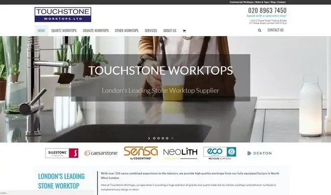 A New Online Look for Touchstone Worktops