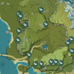 Violet Grass Genshin Impact Location Map Where To Farm Violet Grass Touch Tap Play