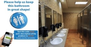 Restroom management and problem reporting