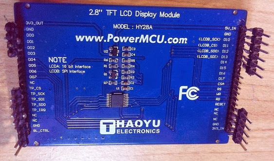Interfacing HY28A LCD module with ILI9320 controller and XPT2046