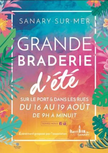 GRANDE BRADERIE D'ETE SANARY 2018