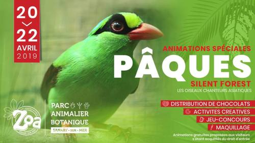 ANIMATION SPECIALE PAQUES SILENT FOREST ZOO ZOA SANARY