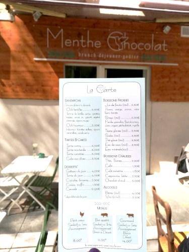 LA CARTE RESTAURANT MENTHE CHOCOLAT A TOULON