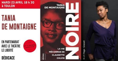 TANIA DE MONTAIGNE A LA ALIBRAIRIE CHARLEMAGNE TOULON