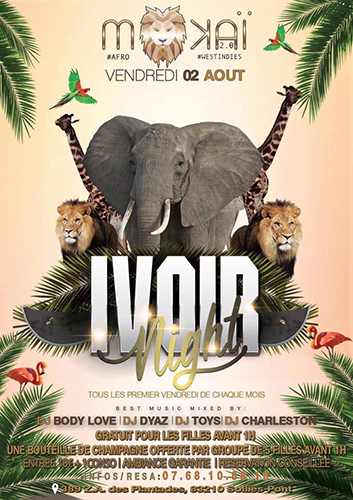 MOKAI CLUB SOIREE IVOIR NIGHT