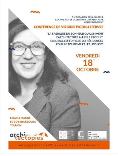 Conférence de Virginie PICON-LEFEVBRE à la librairie Charlemagne à Toulon