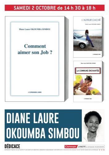 Diane Laure Okoumba Simbou dédicace ses romans à la Librairie Charlemagne