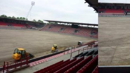 Nouvelle Pelouse Pour Le Stade Ernest Wallon Du Stade