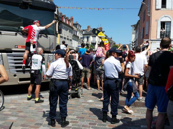 police tour de France