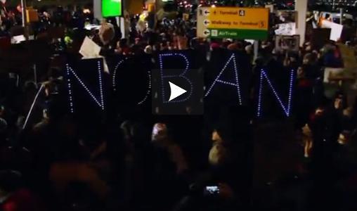 Manifestations contre le décret anti-immigration de Donald Trump aux Etats Unis