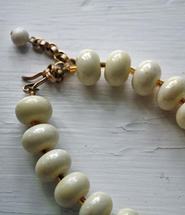 clasp on ceramic bead necklace