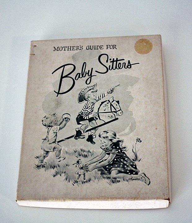 baby sitter guide book in box