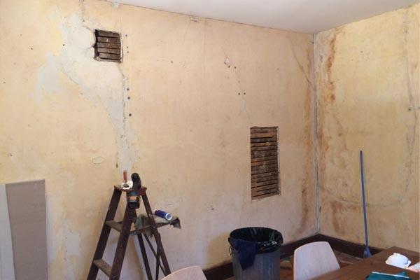 repairing dining room walls