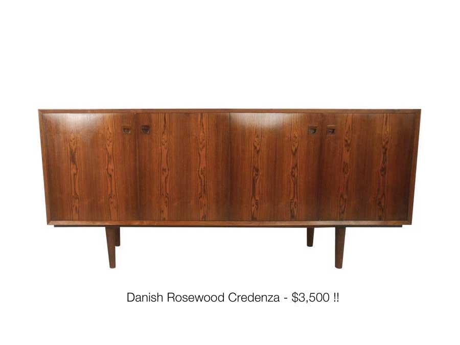 Danish Rosewood Credenza