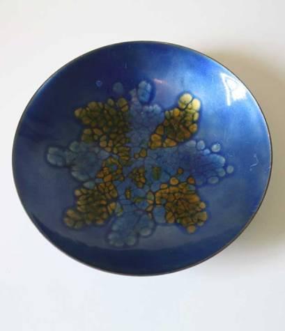 mid century copper enamel plate