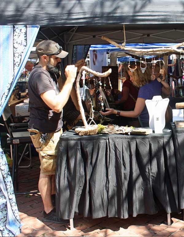 jewelry vendor selling at York Flea