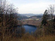 Blick uber die Landschaft der Vulkaneifel
