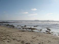 Der Ocean Beach an der Küste von San Diego