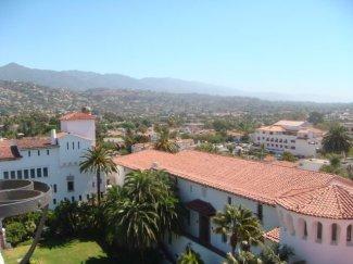Blick über die Dächer von Santa Barbara