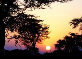 Sonnenaufgang in Tansania, Afrika