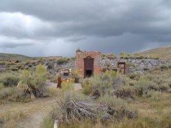 Die Ruinen der einstigen Bank von Bodie
