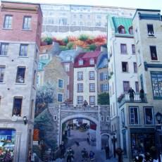 Größte Freske von Québec City