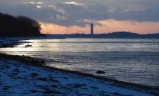 Ostsee Strandspaziergang , Sonnenuntergang