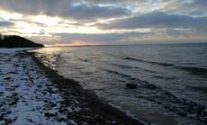 Ostsee Strandspaziergang , stürmisch