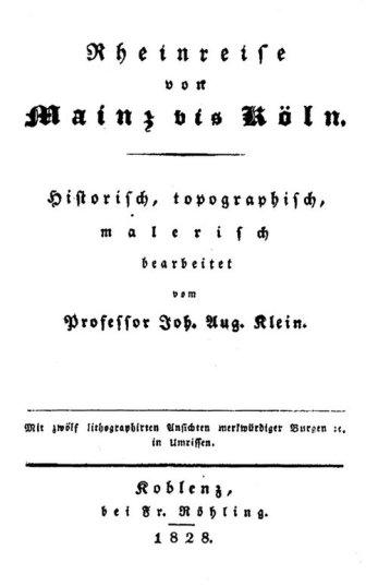 """Der """"Ur-Baedeker"""" von J. Klein"""
