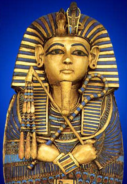 There were many crooks and flails in the Tomb of Tutankhamun, including even adorning the small coffin that held his internal organs