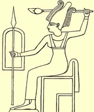 A drawing of Anat from Egypt