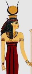 Meretseger as a Woman Wearing the Headdress of Hathor from KV 19
