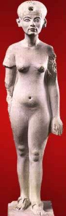 An aging Nefertiti - See closeup above