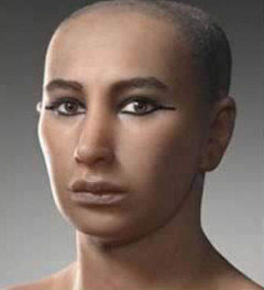 A recent, French reconstruction of King Tut's face