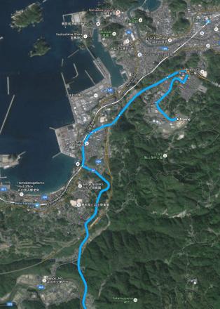 4. Reaching the seaside in Hamada