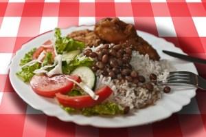 plato bandera dominicana-